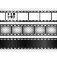 realistic film strips collection on transparent vector image vector image