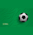realistic football on green background football vector image vector image