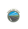 road icon for trip tour or travel journey vector image vector image