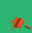 roller brush splash vector image vector image