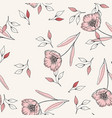 rustic floral template on white background vector image vector image