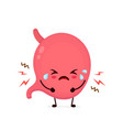 sad suffering sick cute stomach vector image vector image