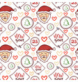 seamless pattern merry christmas and vector image vector image