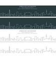seoul single line skyline banner vector image
