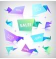 set colorful sale banners bubbles 3d vector image vector image