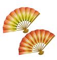 set japanese fans vector image