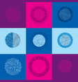 set of abstract technology elements with round vector image