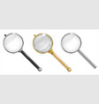 set of different enlargers vector image vector image