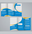 tri-fold business brochure template vector image vector image
