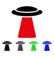 ufo ray flat icon vector image vector image