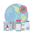 usa stop pandemia coronavirus medical protection v vector image