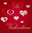 valentine39s day hearts background abstract vector image vector image