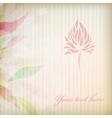 Vintage flower on background vector image vector image