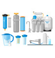 water filters vector image