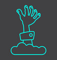 zombie hand line icon halloween and scary vector image vector image