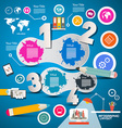 Four Steps Modern Infographics Layout with vector image