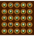 Steam punk buttons vector image