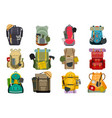 backpack rucksack travel tourist knapsack outdoor vector image