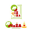 A set of logo on the theme of pizza