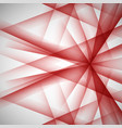 abstract red lines on a white background vector image