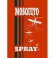 anti-mosquito spray label vector image