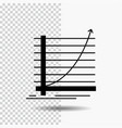 arrow chart curve experience goal glyph icon on vector image vector image