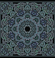 bandana paisley design- turquoise print square vector image vector image