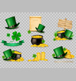 big collection of st patricks day related icons vector image
