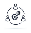 business collaborate icon image teamwork vector image vector image