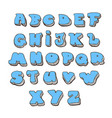cartoon alphabet colored font vector image vector image