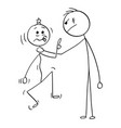 cartoon big man holding smaller mans neck and vector image vector image