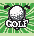 color sports template for golf team vector image vector image