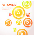 colourful vitamin background vector image vector image