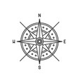 compass wind rose icon sign on white background vector image vector image