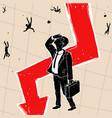 crisis financial on stock exchange vector image vector image