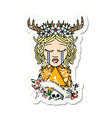 crying elf druid character face with natural one vector image vector image