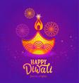 cute banner for happy diwali festival lights vector image