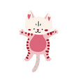 cute cartoon kitten icon vector image