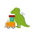 cute kids toys icon vector image vector image