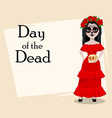day of the dead traditional holiday vector image