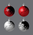 decorative balls blotted for christmas tree vector image