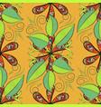 decorative drawing doodle leaf texture design vector image