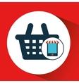 digital e-commerce basket market buy graphic vector image vector image