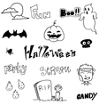 Doodle art halloween holiday vector image vector image