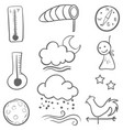 doodle of weather set collection vector image vector image