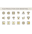 film and film production icon set design 48x48 vector image