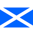 Flag of Scotland vector image vector image