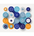 Flat circle infographic vector image vector image