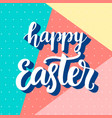 happy easter banner with modern memphis style vector image vector image