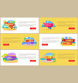 hot summer sale at internet shop web pages set vector image vector image